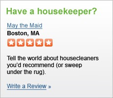 Have a housekeeper? Write a Review