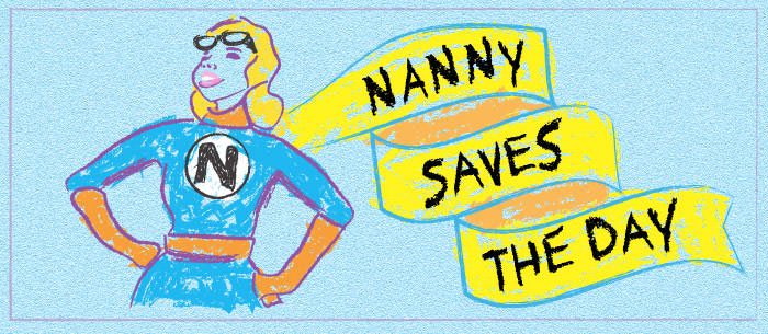 nanny saves the day drawing