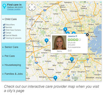 Check out our interactive care provider map when you visit a city's page